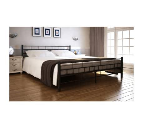bett metallbett pulverbeschichteter stahl 140x200 cm. Black Bedroom Furniture Sets. Home Design Ideas