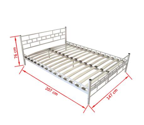 bett metallbett pulverbeschichteter stahl 140x200 cm wei matratze im vidaxl trendshop. Black Bedroom Furniture Sets. Home Design Ideas
