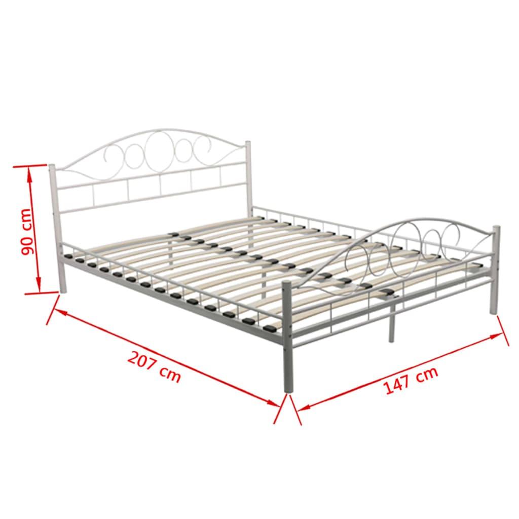 acheter lit courbe en acier enduit de poudre 140x200cm. Black Bedroom Furniture Sets. Home Design Ideas