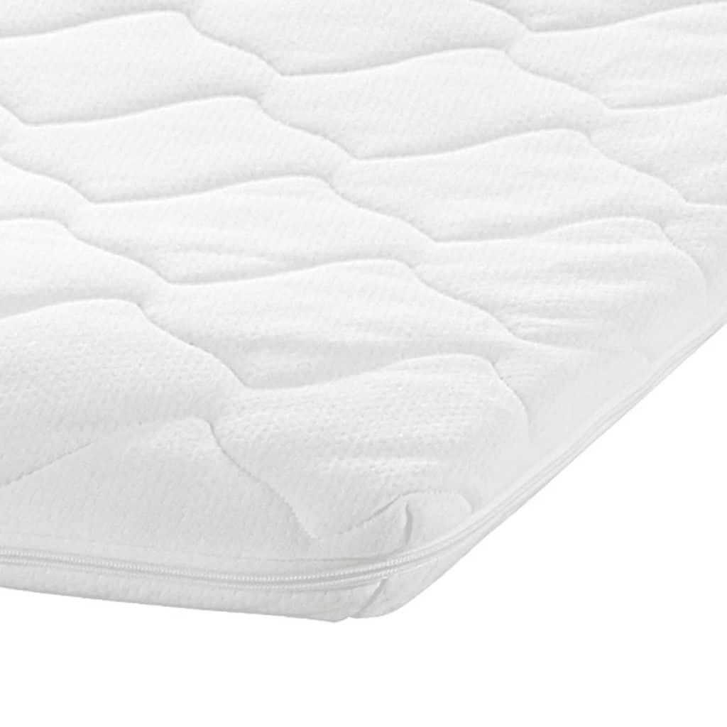 acheter lit en acier 180 x 200 cm blanc matelas surmatelas. Black Bedroom Furniture Sets. Home Design Ideas