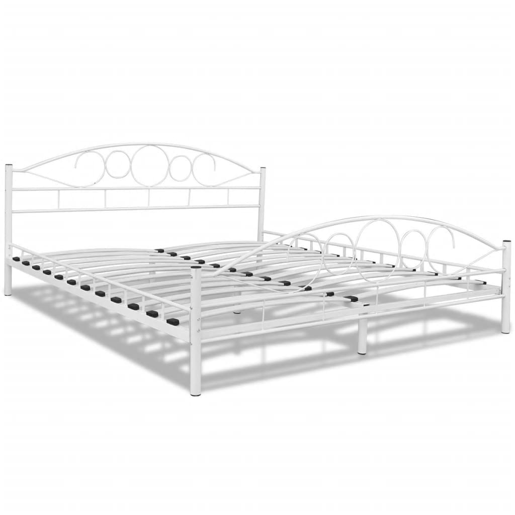 acheter lit courbe en acier 180 x 200 cm blanc matelas. Black Bedroom Furniture Sets. Home Design Ideas