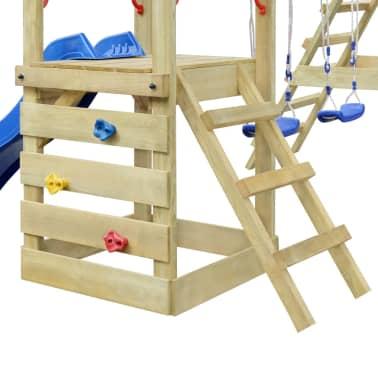 Leseni igralni set z lestvijo, toboganom in gugalnicama 356x255x242cm[2/6]