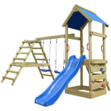 Wooden Playset with Ladders, Slide and Swings 356 x 255 x 242 cm