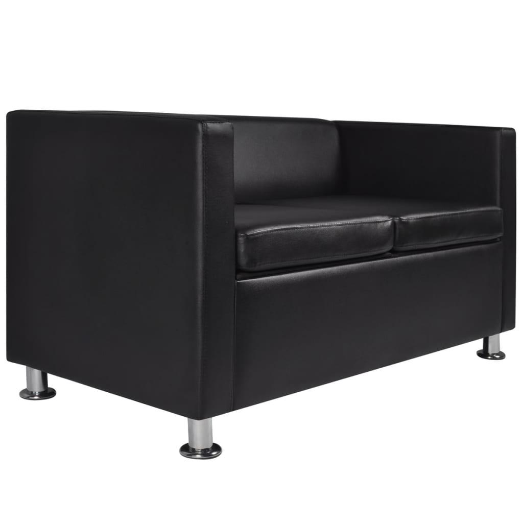 der schwarzes sofaset 3 sitzer und 2 sitzer und sessel online shop. Black Bedroom Furniture Sets. Home Design Ideas