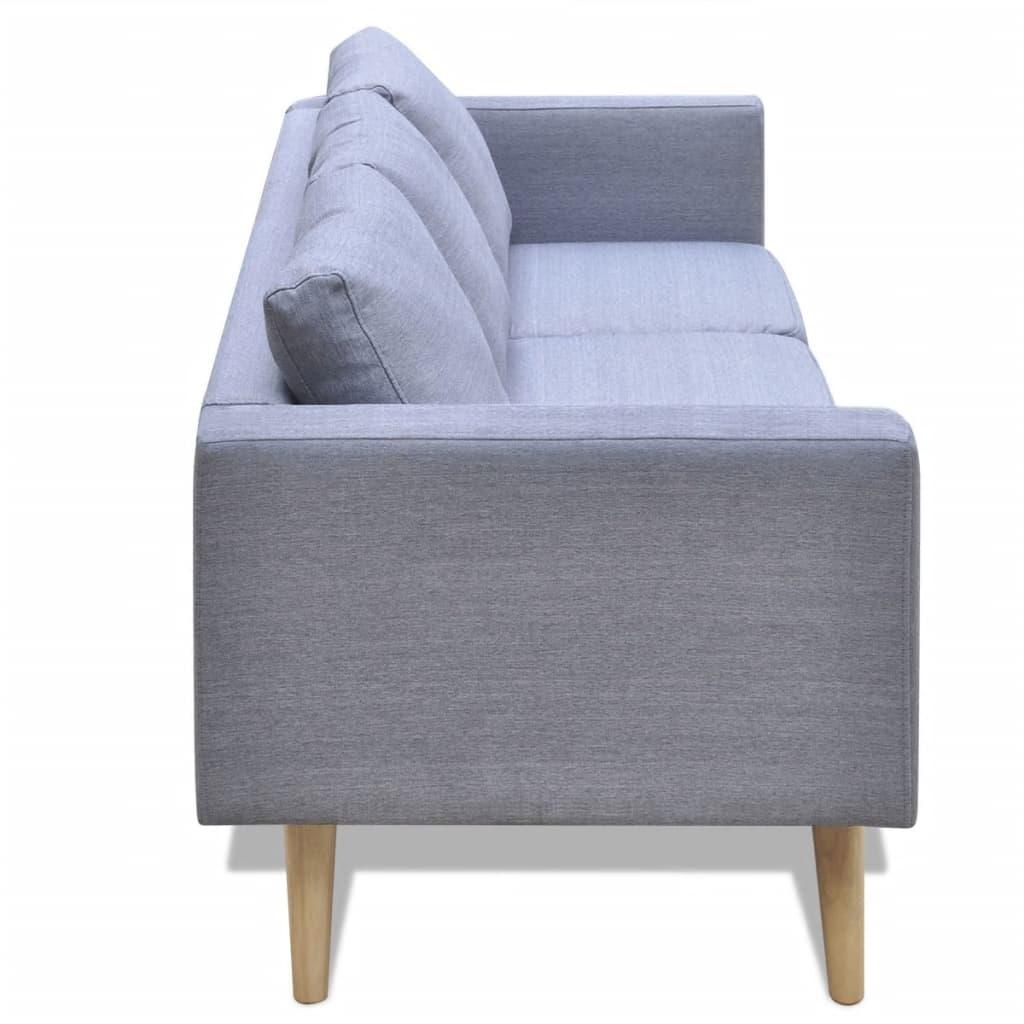 La boutique en ligne ensemble canap 2 places et canap 3 places en tissu gri - Ensemble canape 3 et 2 places ...