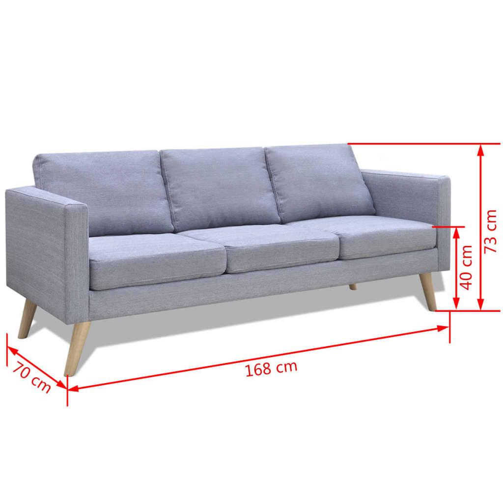 Set de dos sof s de tela grises claros de 2 plazas y de 3 for Sofas de dos plazas