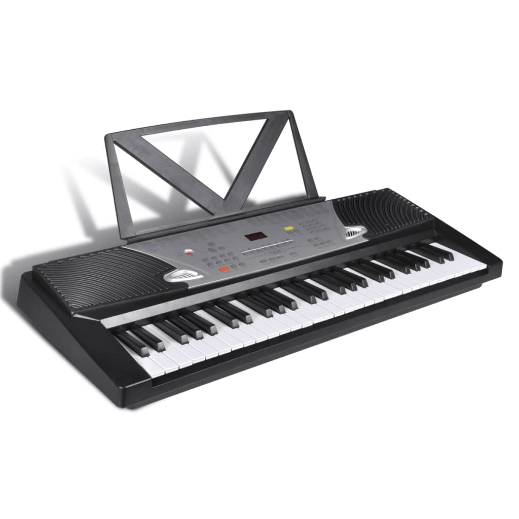 54 key electric keyboard with music stand adjustable for Un stand