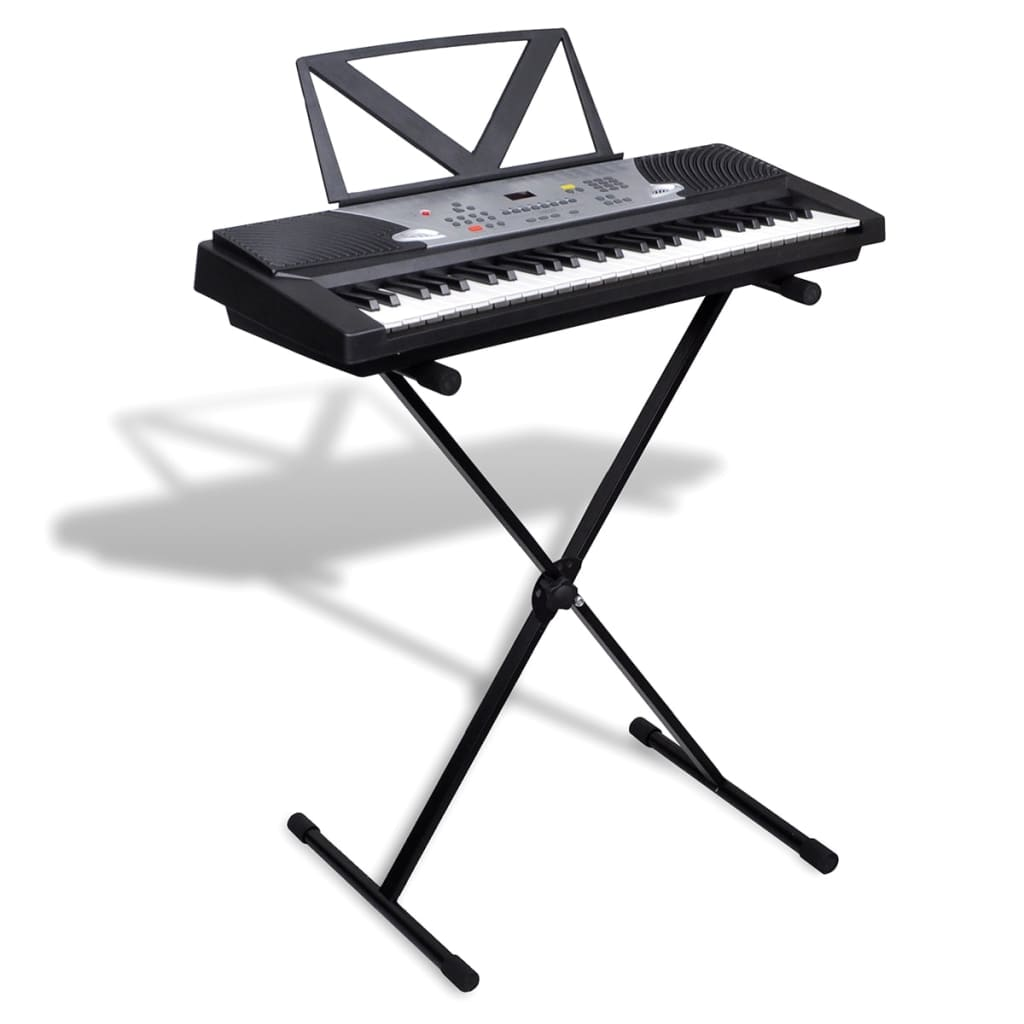 54 key electric keyboard with music stand adjustable