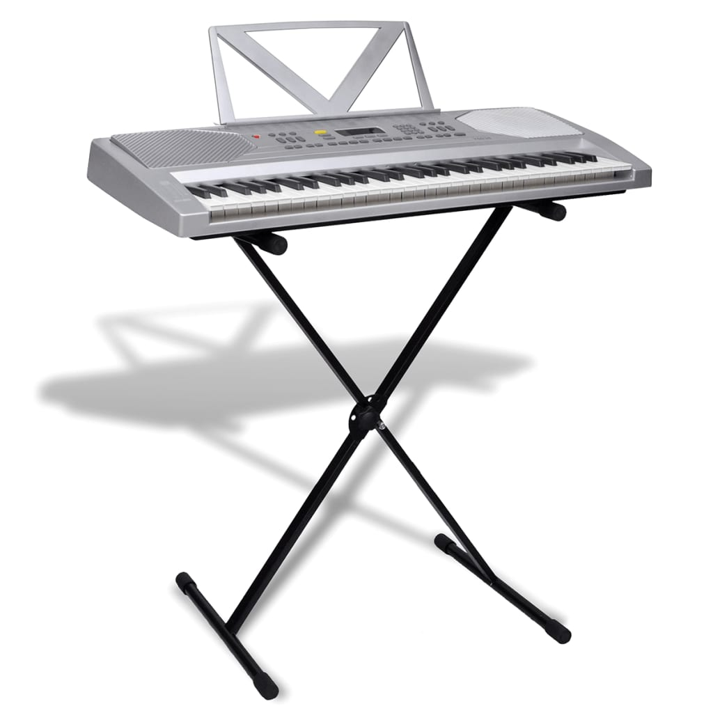 61 Key Electric Keyboard With Music Stand Adjustable