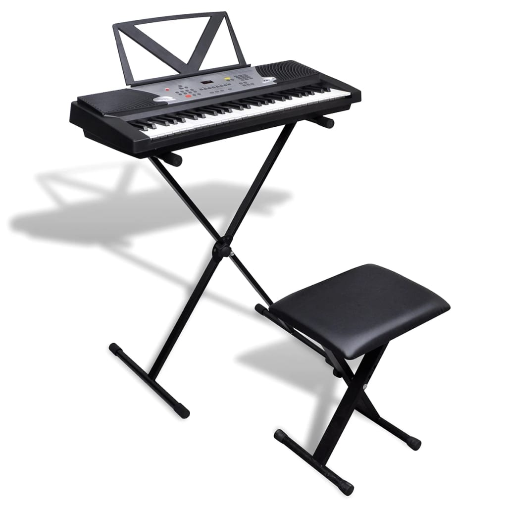 54 Key Electric Keyboard With Music Stand Keyboard Stand