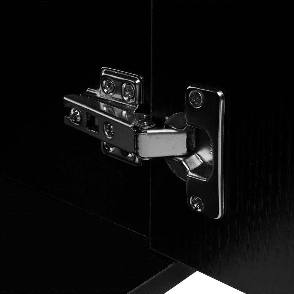 vidaXL-Meubles-de-salle-de-bains-3-pcs-Noir-armoire-mural-miroir-lavabo-bouchon