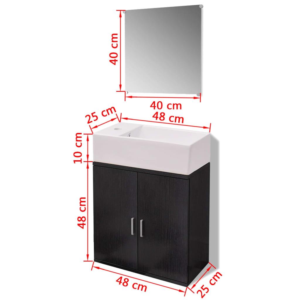 Articoli per vidaxl set 3 pz mobili da bagno e lavandino - Lavandino da incasso bagno ...