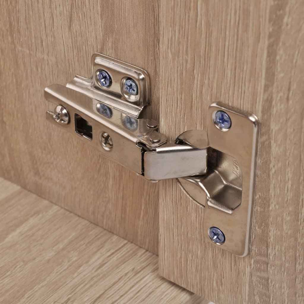 Acheter vidaxl meubles de salle de bains trois pi ces beige pas cher - Meuble salle de bain beige ...