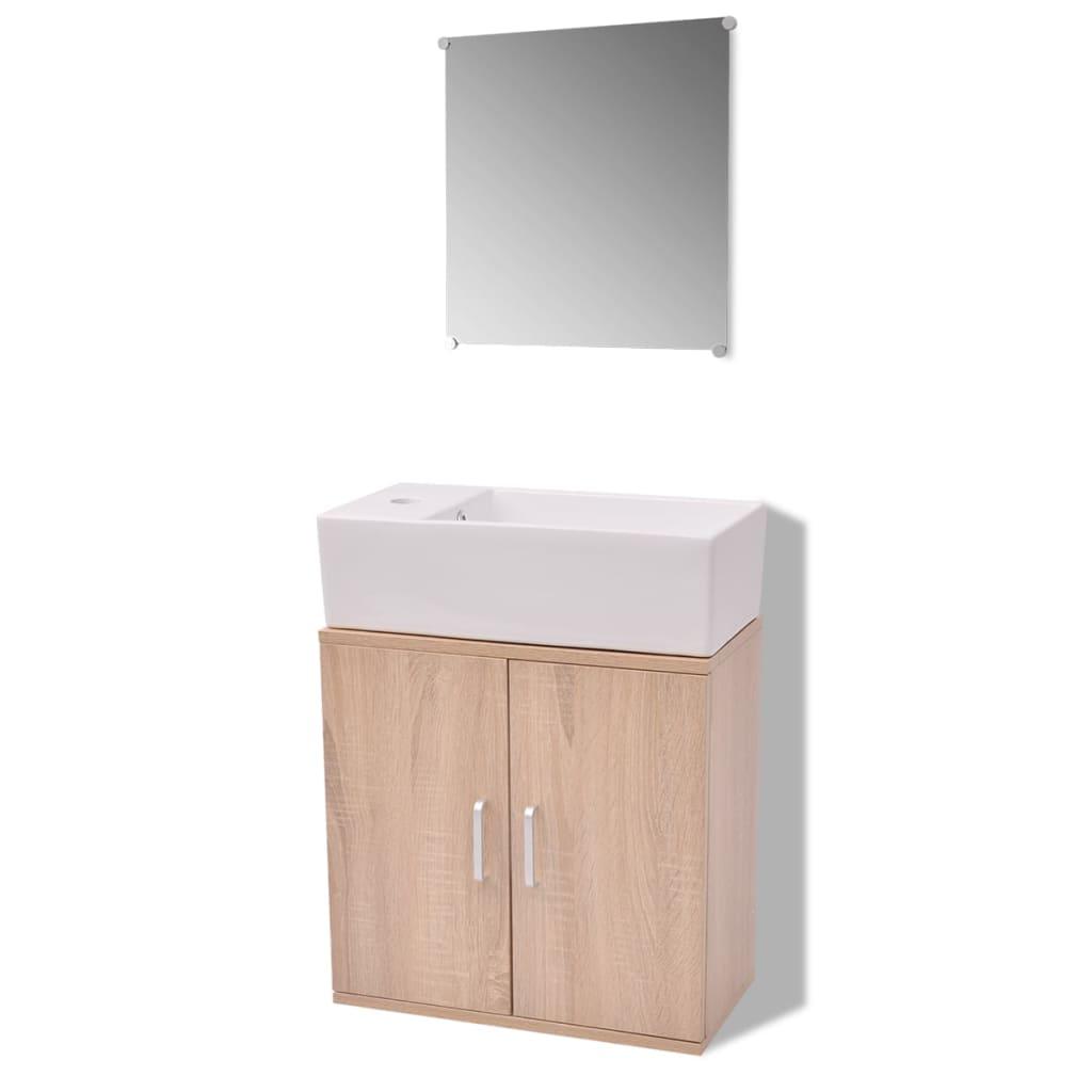 Acheter vidaxl meubles de salle de bains trois pi ces for Acheter meuble de salle de bain