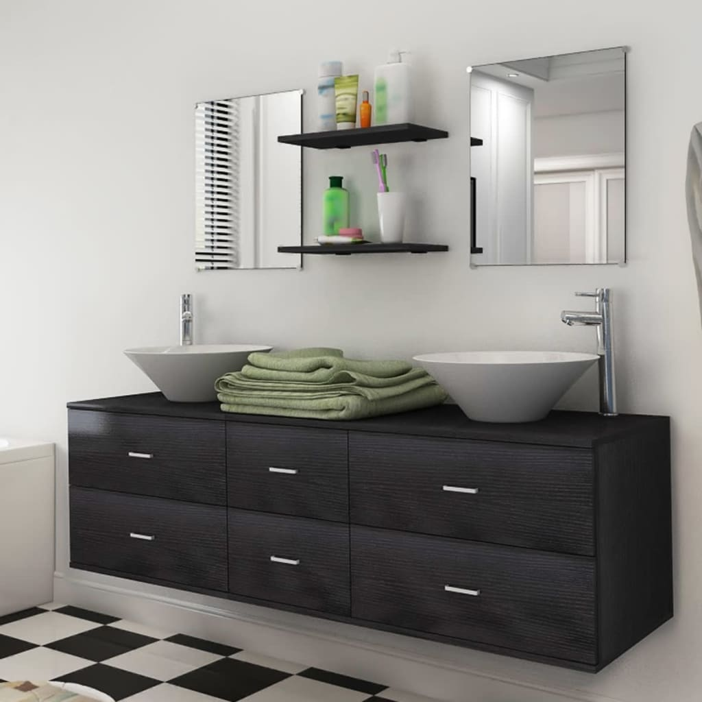 set mobili arredi da bagno con lavandino moderno elegante modelli ... - Modelli Bagni Moderni