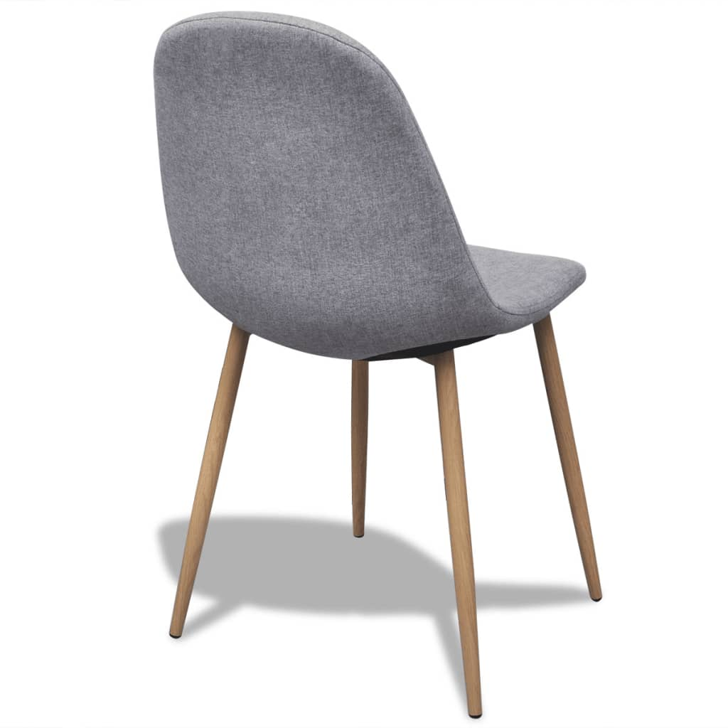 6 hellgraue esszimmerst hle mit stoffbezug und eisenbeinen g nstig kaufen. Black Bedroom Furniture Sets. Home Design Ideas