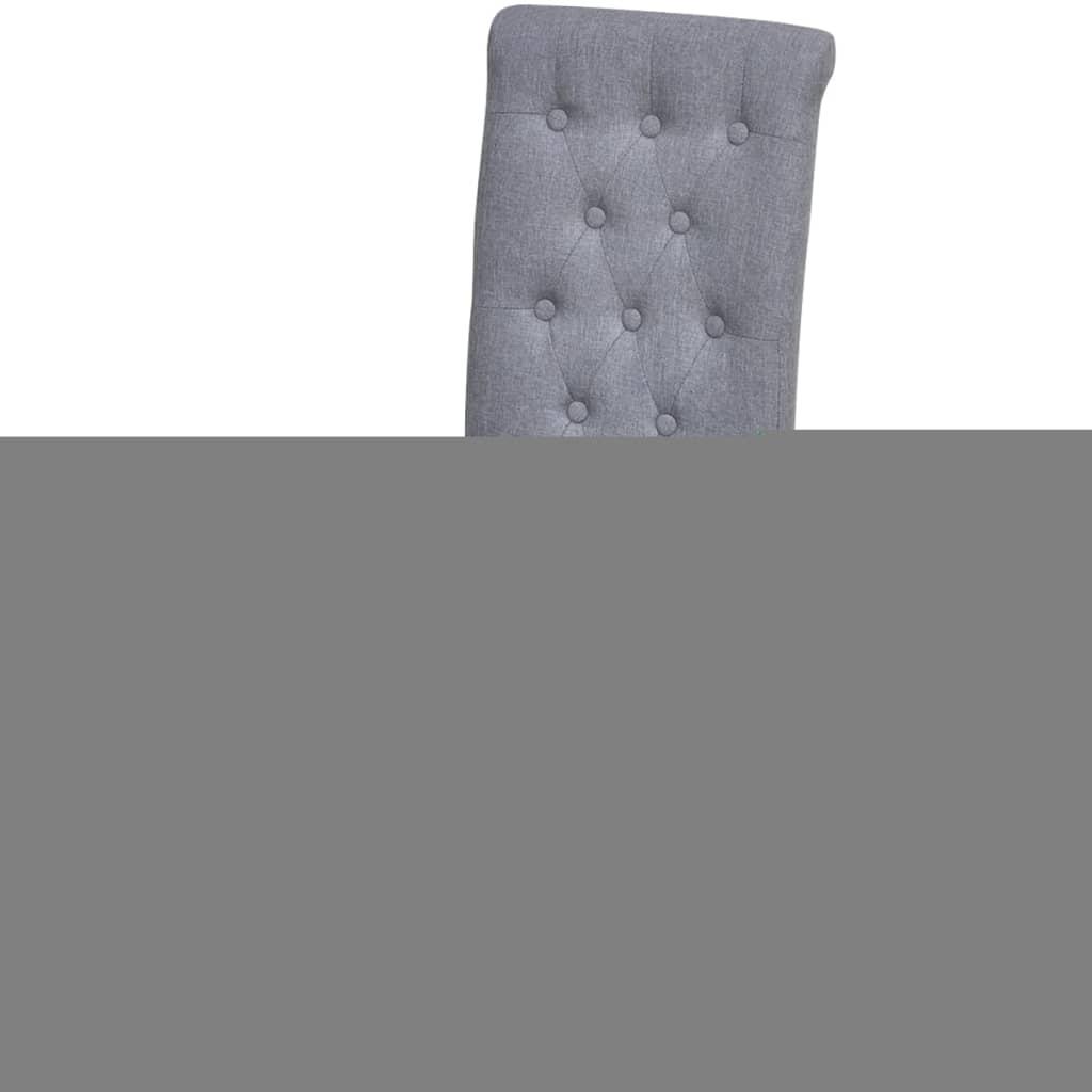 6 esszimmerst hle stoffbezug hohe r ckenlehne dunkelgrau g nstig kaufen. Black Bedroom Furniture Sets. Home Design Ideas