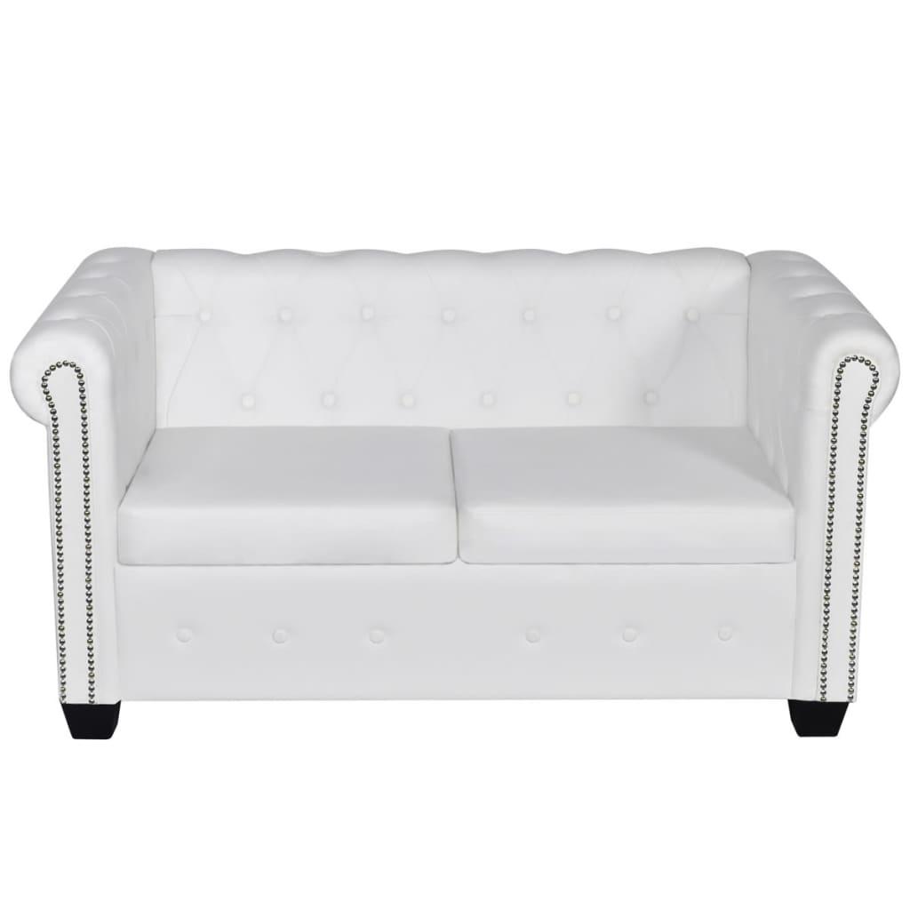 wei es chesterfield 2 sitzer und 3 sitzer sofa set g nstig kaufen. Black Bedroom Furniture Sets. Home Design Ideas