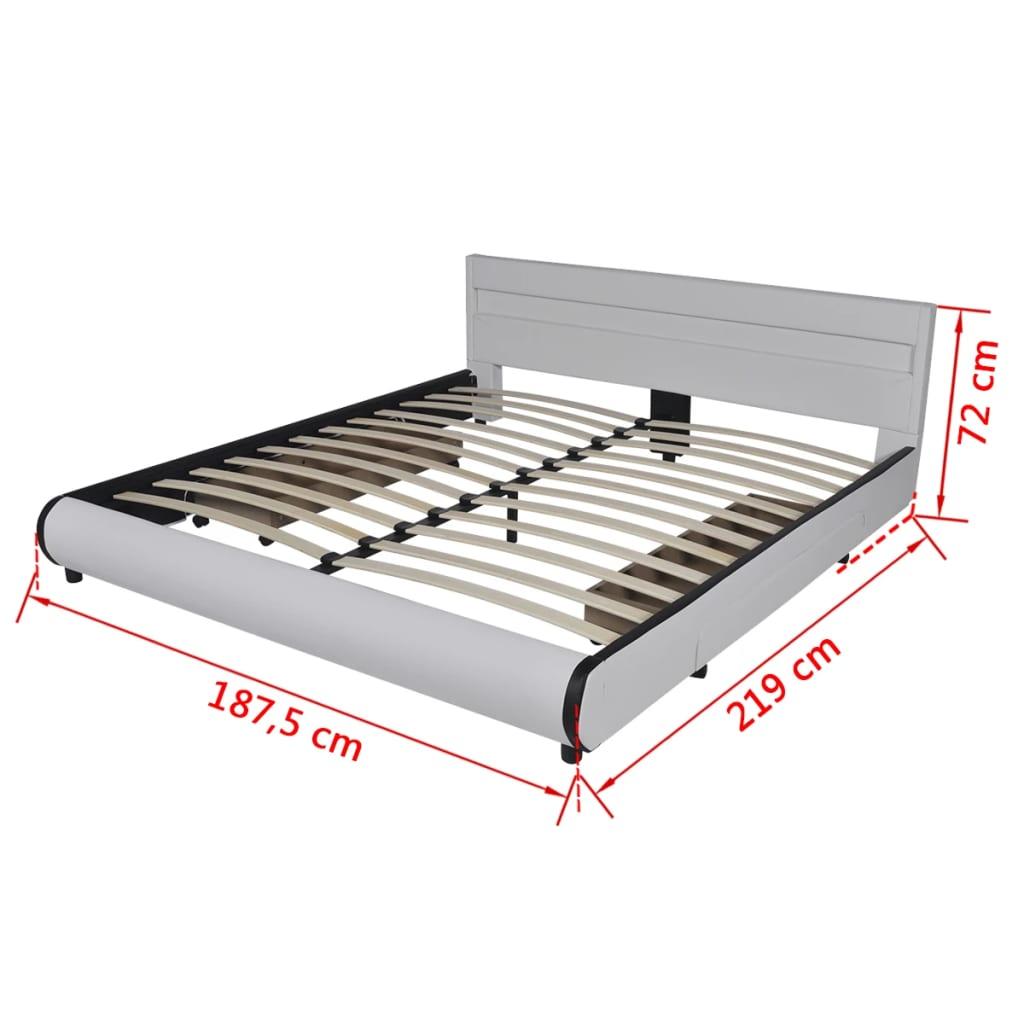 Cabecero de cama blanco con led 180 cm colch n espuma - Cabecero cama blanco ...