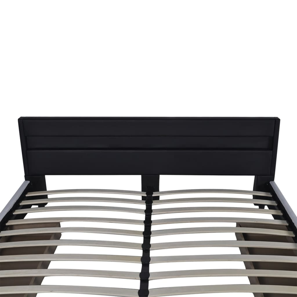 lit de 180 cm en cuir synth tique avec t te de lit matelas. Black Bedroom Furniture Sets. Home Design Ideas
