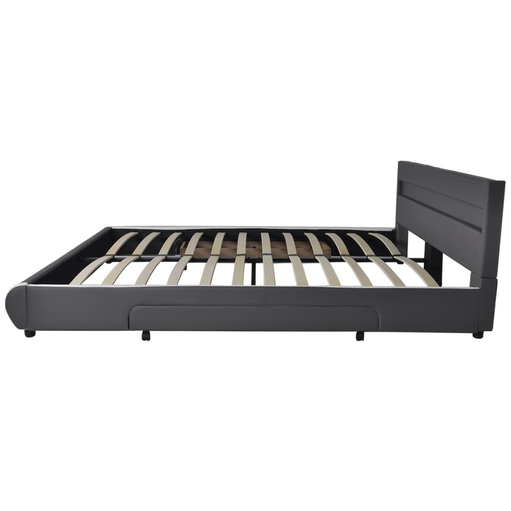 Cabecero de cama gris con led 180 cm colch n espuma - Cabecero cama 180 ...