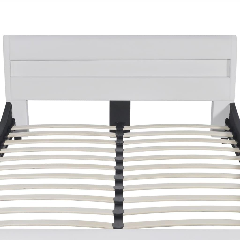 vidaXL-Letto-Matrimoniale-in-Pelle-artificiale-con-Testiera-LED-140-cm-Materasso
