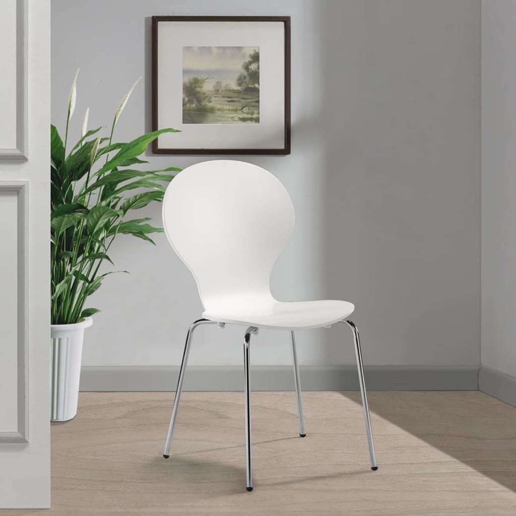 Acheter 6 chaises papillon de salle manger blanc pas for Salle a manger solde