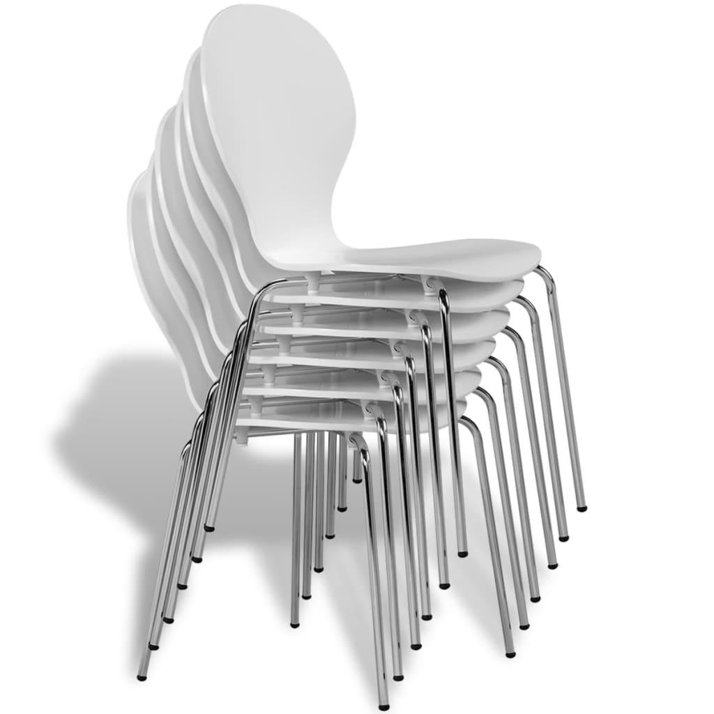 Acheter 6 chaises papillon de salle manger blanc pas cher - Salle a manger papillon but ...