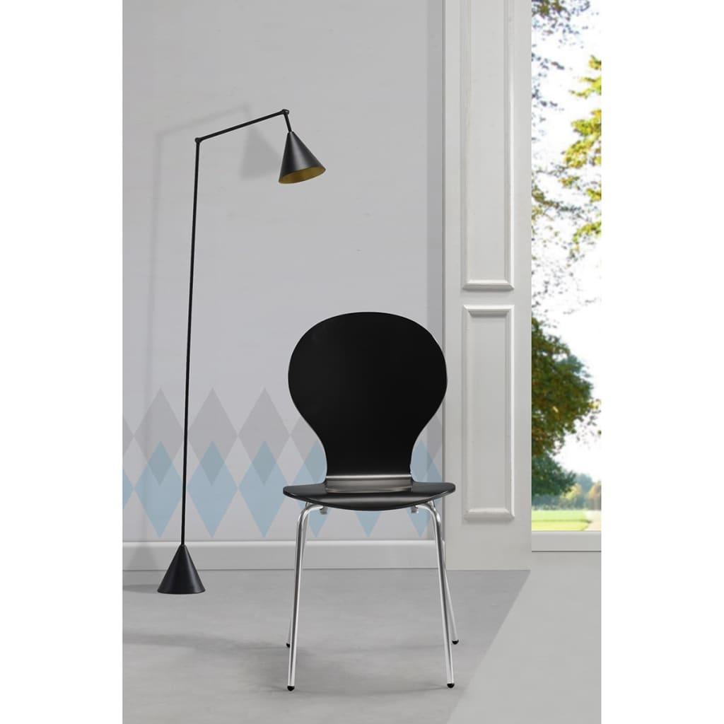 6 stapelbare esszimmerst hle schmetterlings design schwarz im vidaxl trendshop - Esszimmerstuehle design ...