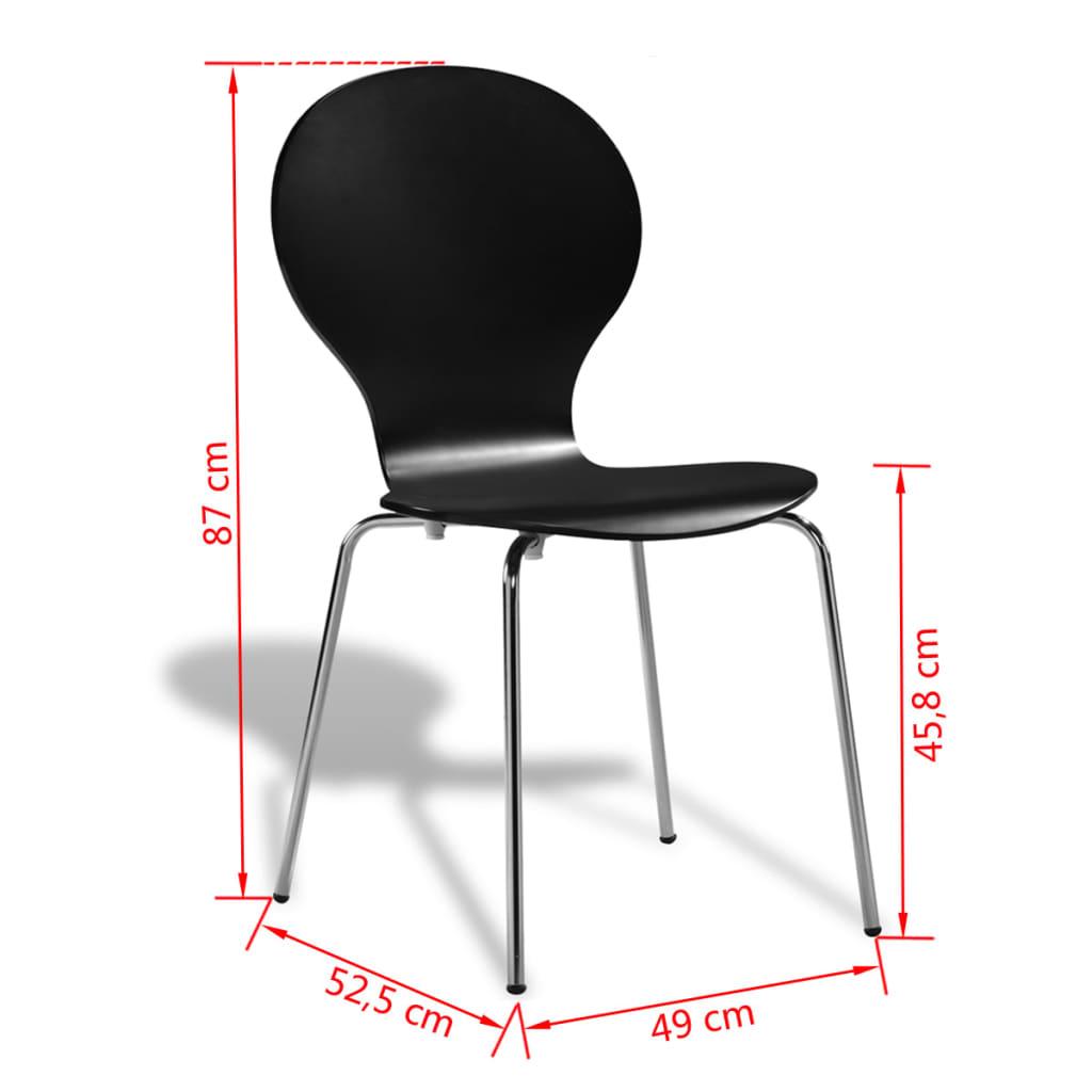 Acheter 6 chaises papillon de salle manger noir pas cher for 6 chaises de salle a manger pas cher