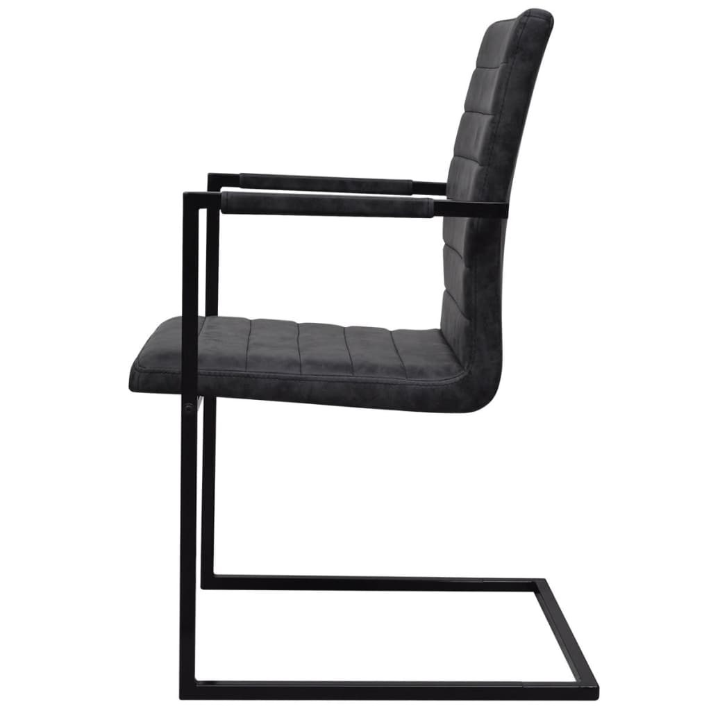 6 sillas de comedor acanaladas tipo cantilever con for Sillas comedor con reposabrazos