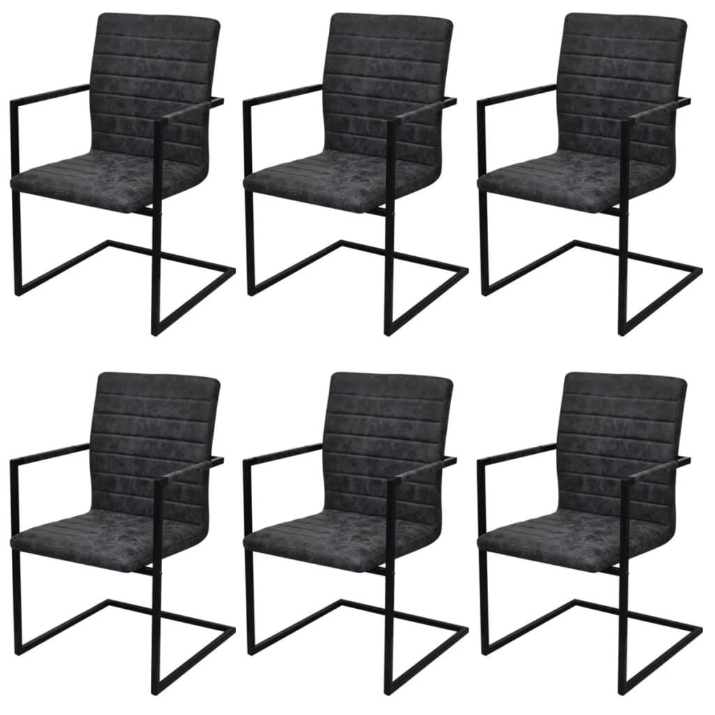6 sillas de comedor acanaladas tipo cantilever con for Comedor 6 sillas