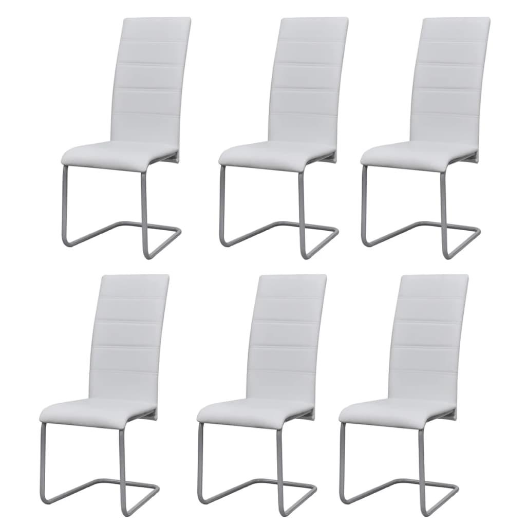 6 sillas de comedor con respaldo alto tipo cantilever for Comedor alto