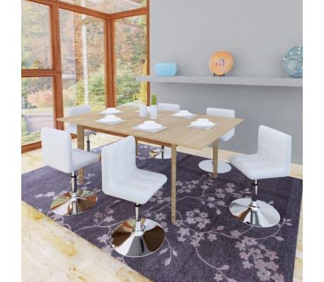 Articoli per set 6 sedie da tavola bianche girevoli for Tavola e sedie