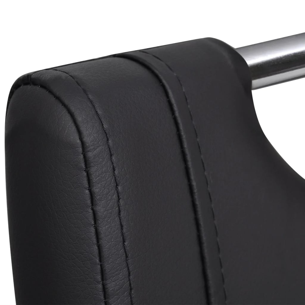 4 kunstleder freischwinger esszimmerst hle mit griff schwarz g nstig kaufen. Black Bedroom Furniture Sets. Home Design Ideas