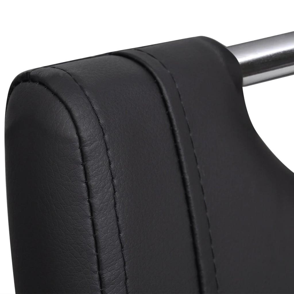 Set 6 sedie da pranzo ecopelle nera a sbalzo for Sedie a buon prezzo