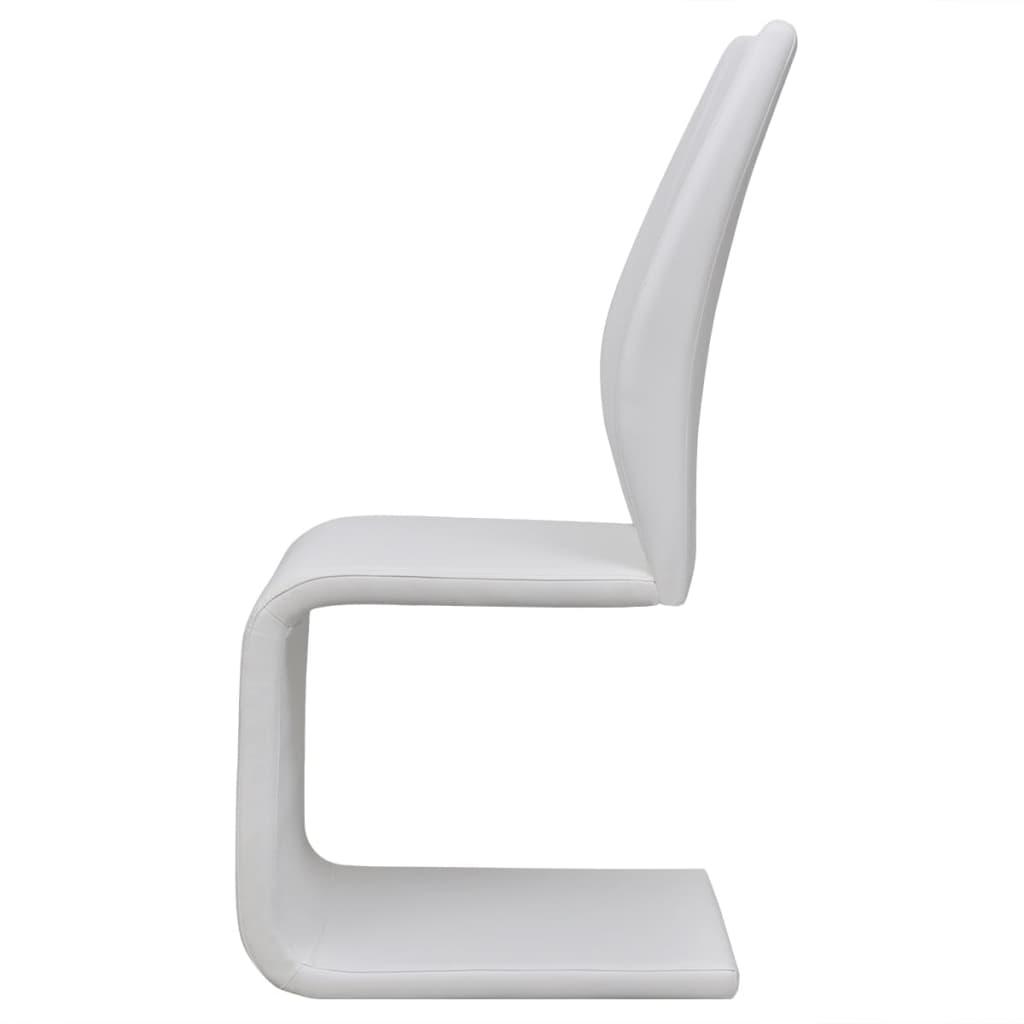 Set 6 sedie da pranzo ecopelle bianca a sbalzo for Sedie a buon prezzo