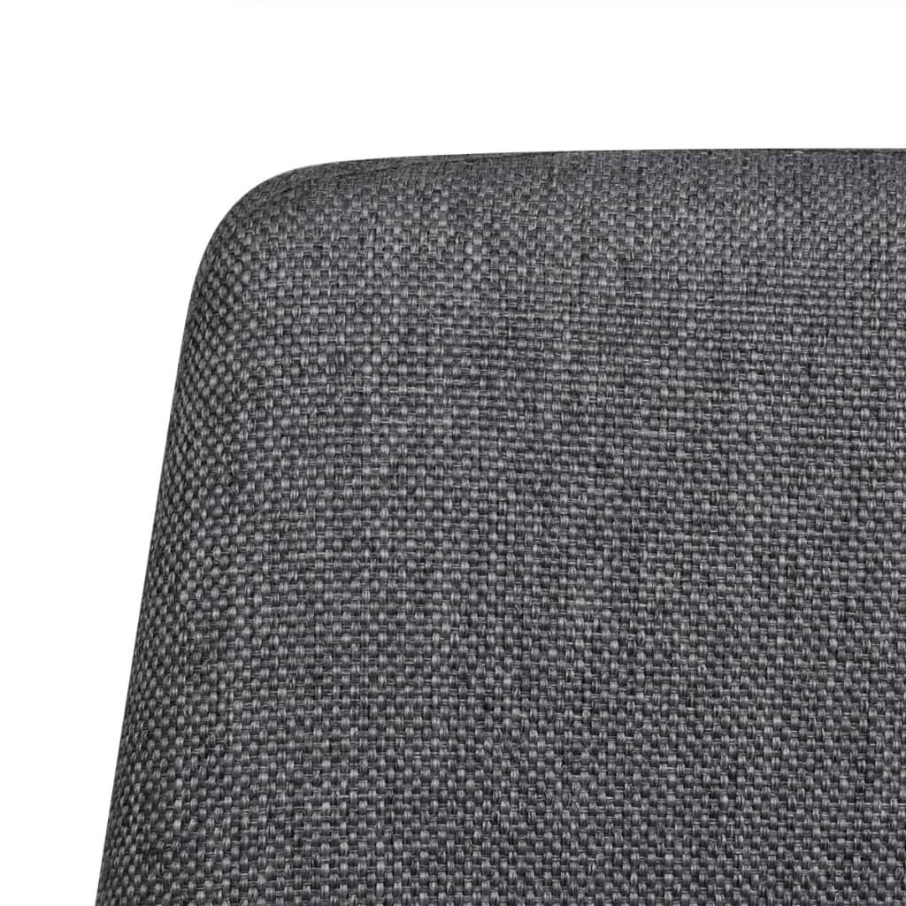 6 esszimmerst hle stoffbezug mit eisenbeinen dunkelgrau. Black Bedroom Furniture Sets. Home Design Ideas