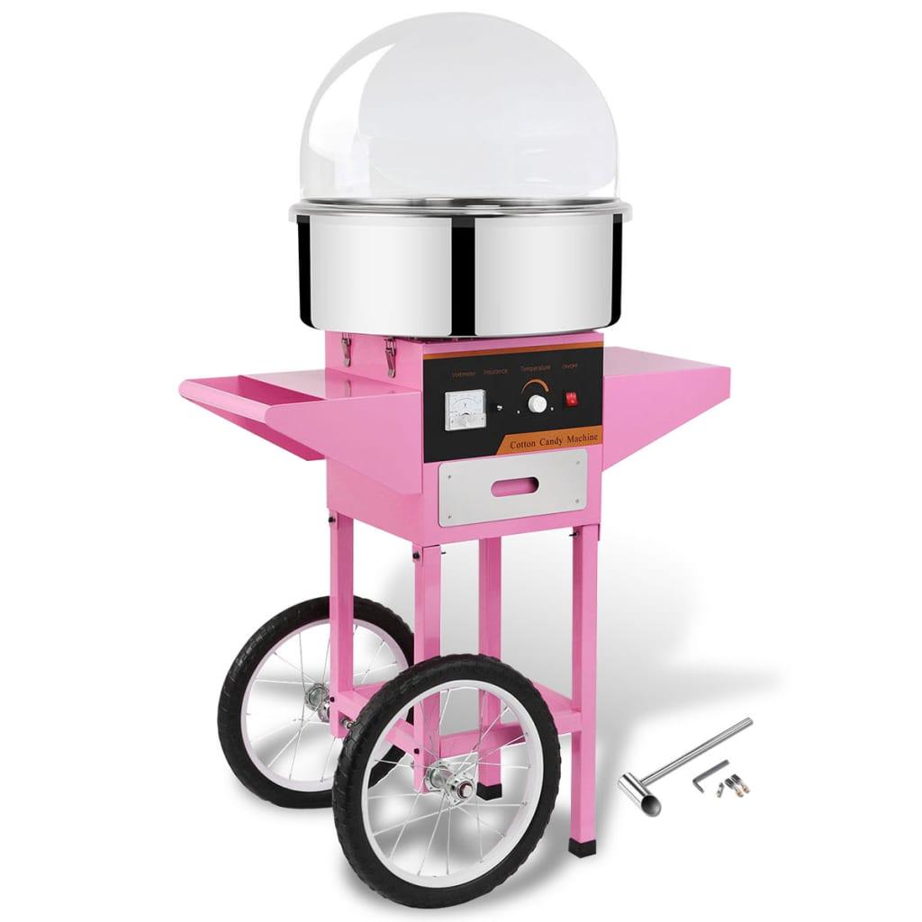 Afbeelding van vidaXL Professionele suikerspinmachine met kar en deksel