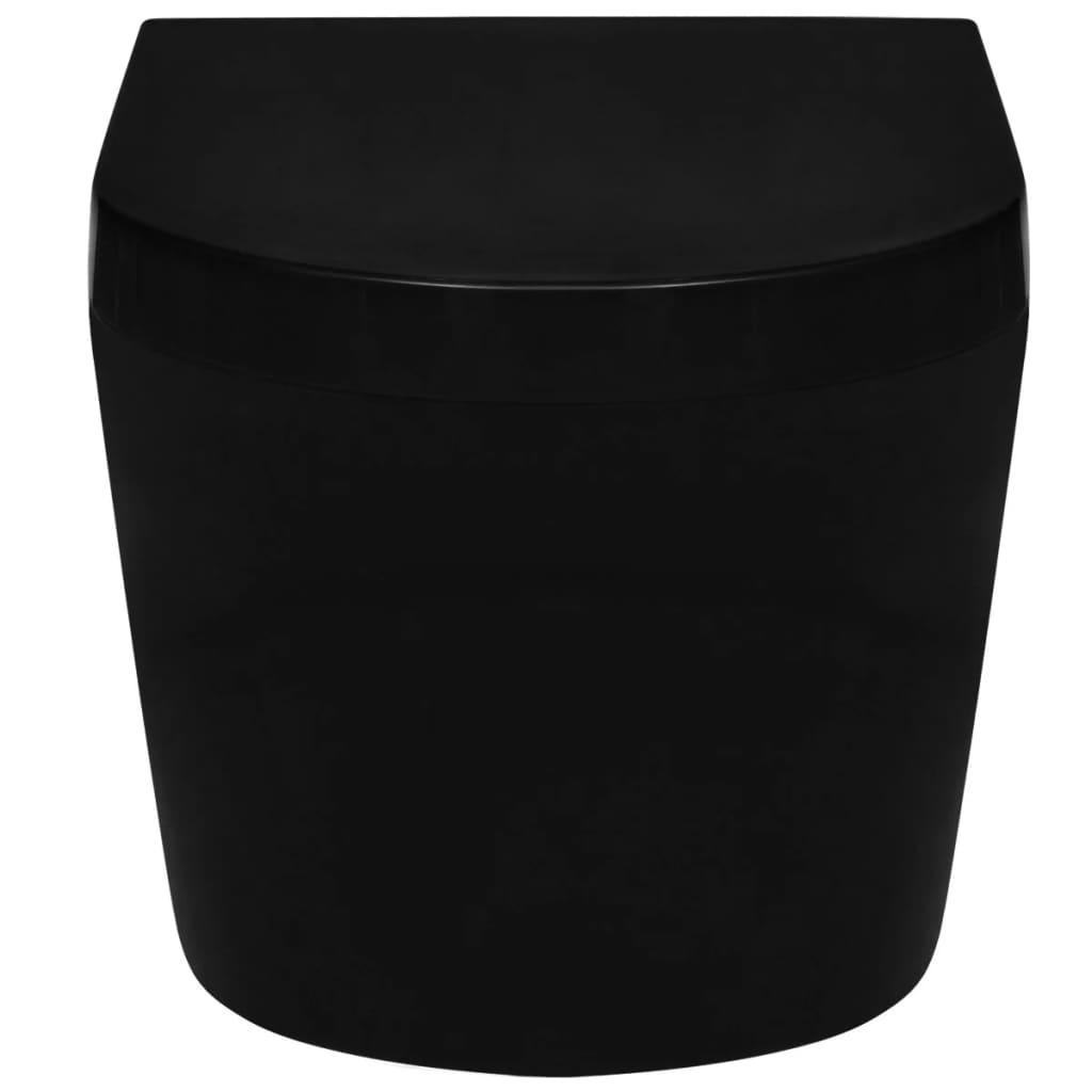 wandh ngende keramik toilette wc schwarz mit einbau sp lkasten g nstig kaufen. Black Bedroom Furniture Sets. Home Design Ideas