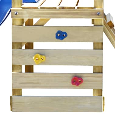 vidaXL Playhouse Set with Ladder, Slide and Swings 290x260x235 cm Wood[5/9]