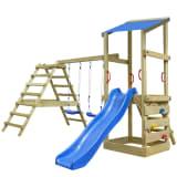 vidaXL Casa brincar com escada desliza e baloiço 356x255x235 cm