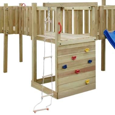 acheter vidaxl ensemble d 39 aire de jeux avec toboggan chelles et balan oires en bois pas cher. Black Bedroom Furniture Sets. Home Design Ideas