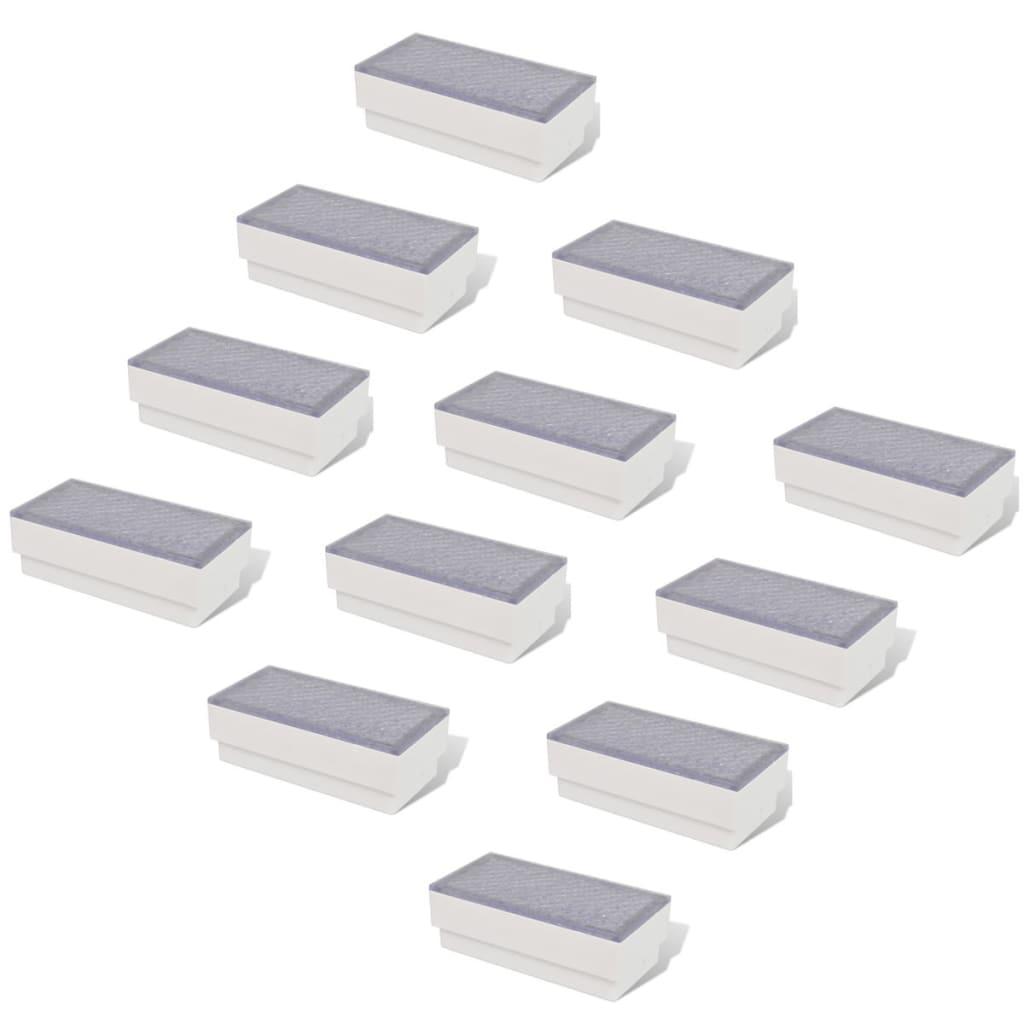 vidaXL-Luces-Modelo-Empotrables-para-Suelo-Pack-12-Unidades-Medidas-100x200x68mm