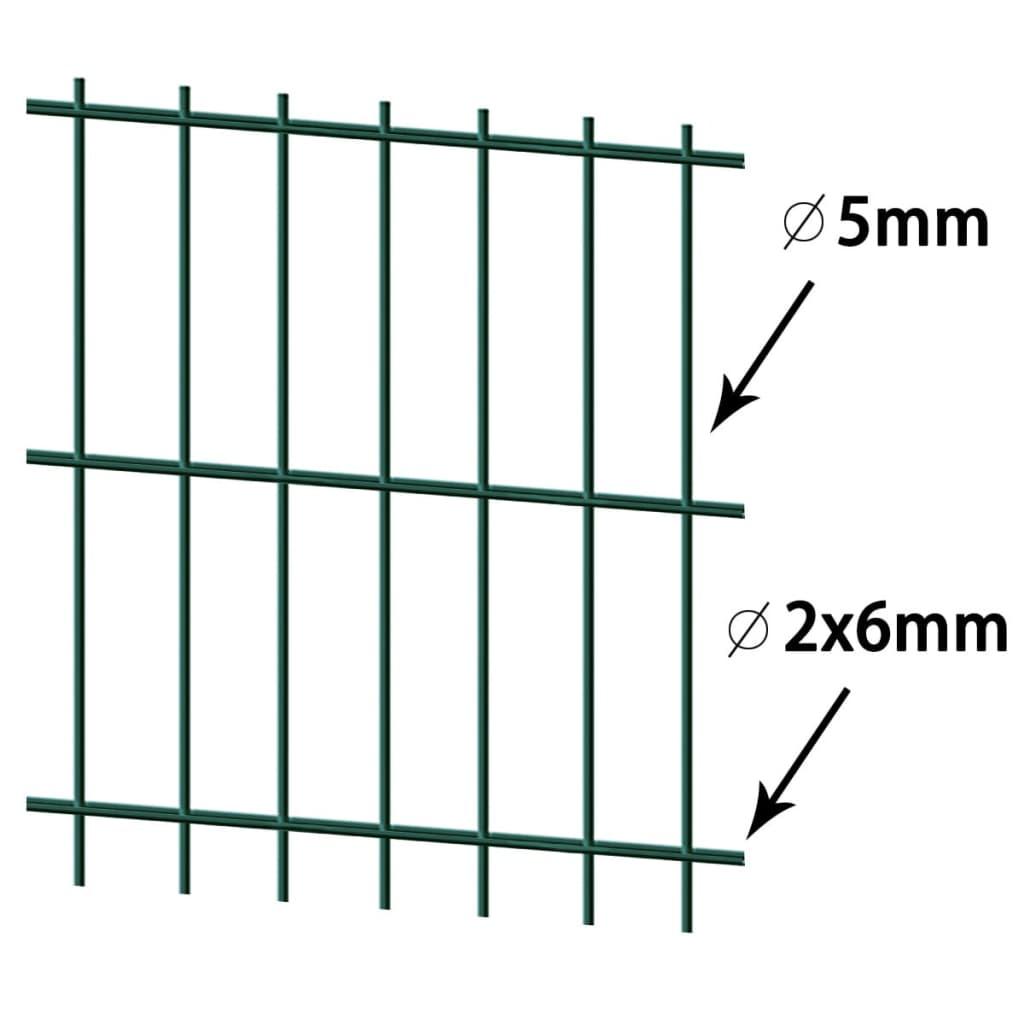 vidaxl doppelstabmattenzaun gartenzaun pfosten 2008x830. Black Bedroom Furniture Sets. Home Design Ideas