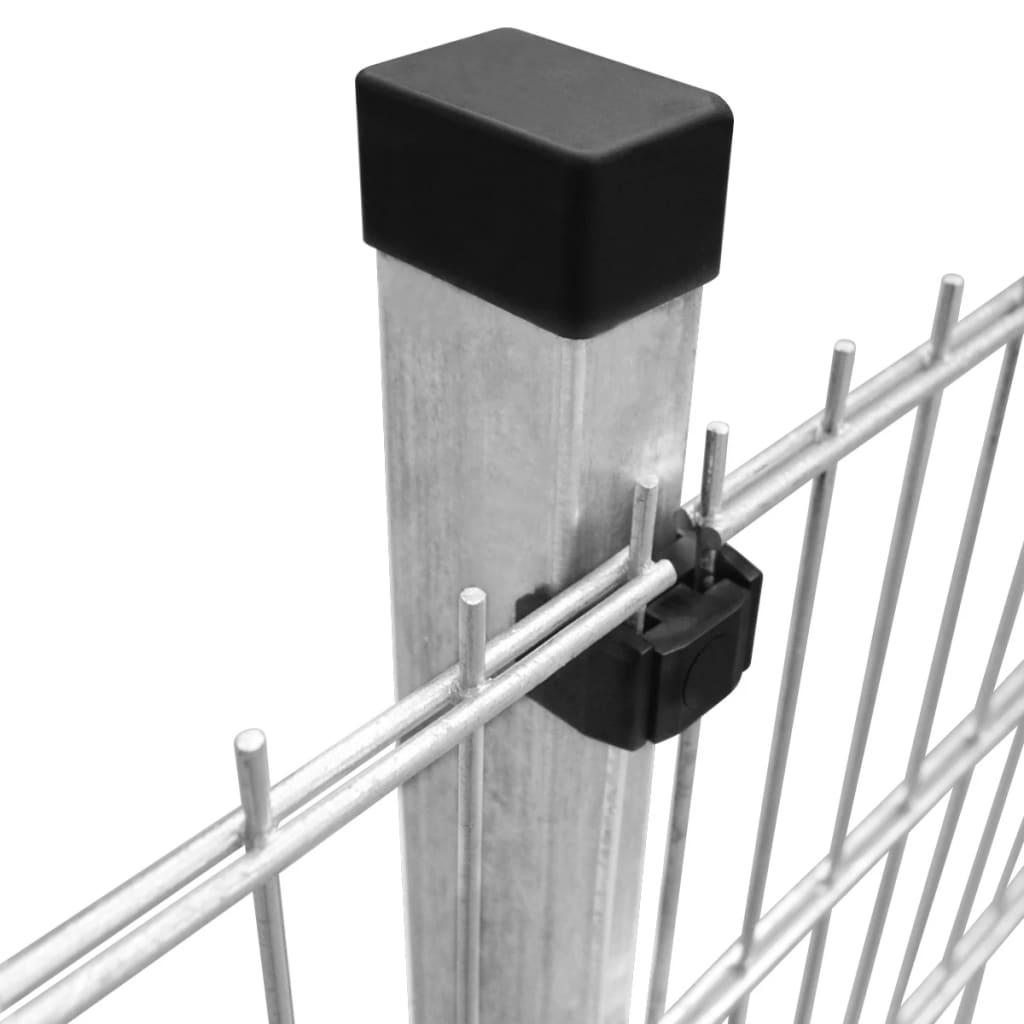 vidaxl doppelstabmattenzaun gartenzaun pfosten 2008x830 mm. Black Bedroom Furniture Sets. Home Design Ideas