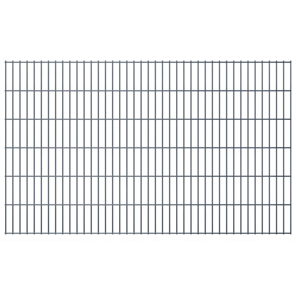 vidaxl doppelstabmattenzaun gartenzaun pfosten 2008x1230 mm 50 m grau g nstig kaufen. Black Bedroom Furniture Sets. Home Design Ideas