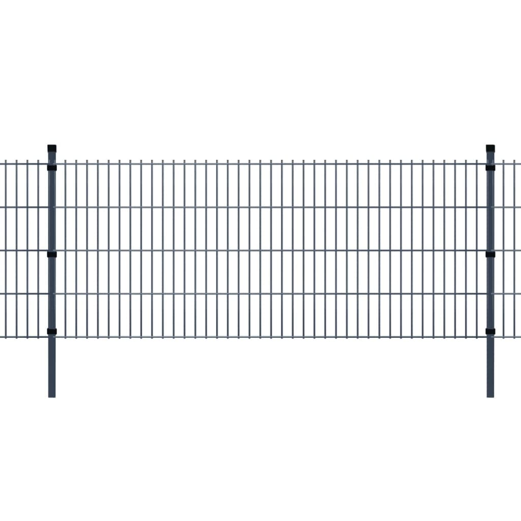 Acheter vidaxl panneaux et poteaux de cl ture 2d pour for Poteaux de rugby pour jardin