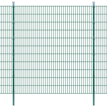 vidaxl doppelstabmattenzaun gartenzaun pfosten 2008x2230 mm 16m gr n g nstig kaufen. Black Bedroom Furniture Sets. Home Design Ideas