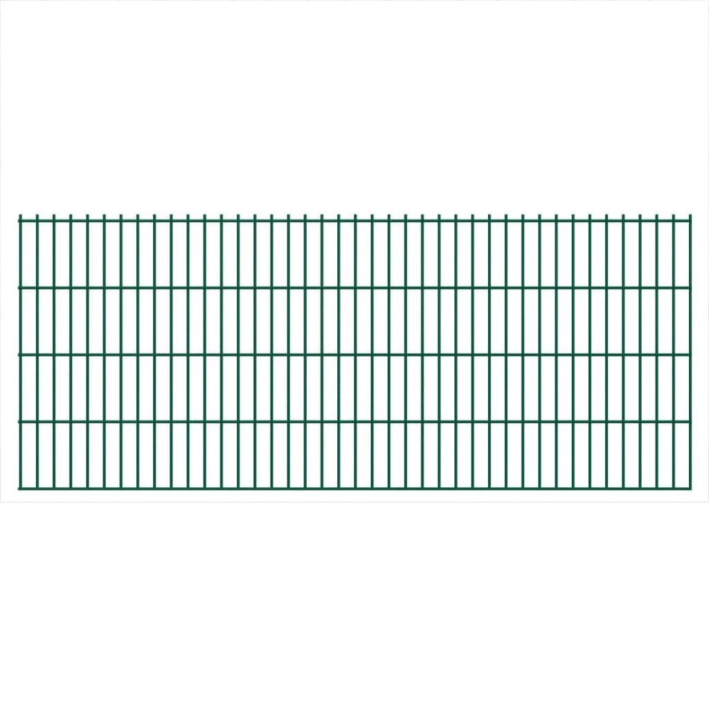 vidaXL-Set-23-Pannelli-di-recinzione-2D-giardino-2008x830mm-46m-verde-in-acciaio